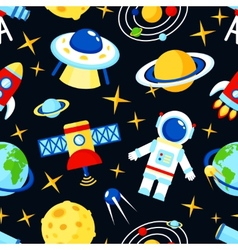 Space seamless pattern vector