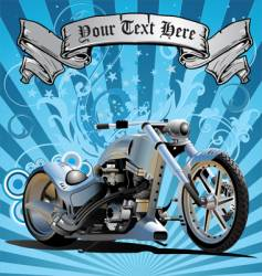 Super bike in grunge background vector