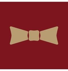 The bow tie icon bow tie symbol flat vector