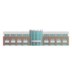 the building university school vector image