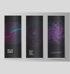 The layout of roll up banner stands vector