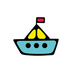 Toy for children ship simple vector