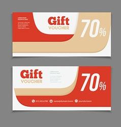 Two coupon voucher design Gift voucher template vector
