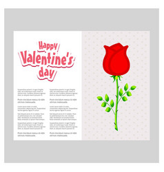 valentines day greetingscard with light background vector image