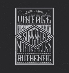 Vintage motorcycles typography t-shirt graphics vector
