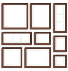 Wenge frames set vector