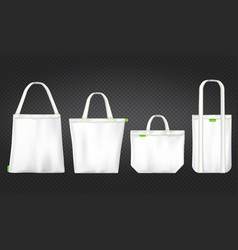 White tote shopping eco bags vector