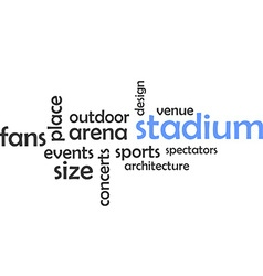 word cloud stadium vector image