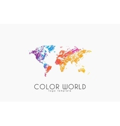 World map logo World logo Color world Creative vector image