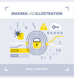 Concept of data protection vector