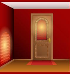 room interior with door vector image vector image