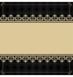 Vintage background with design elements vector image vector image