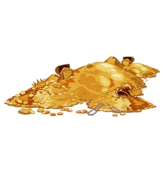 Pile Treasure vector image