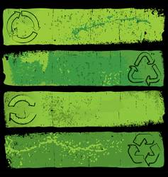 recycle banners vector image