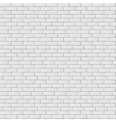 White blank brick wall seamless pattern texture vector image vector image