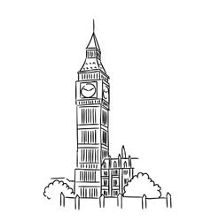 Big Ben in London vector image