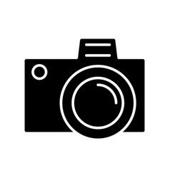 photo camera simple icon vector image
