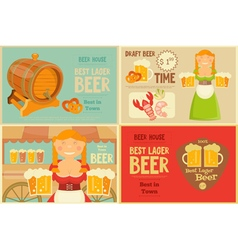 beer cards set vector image vector image