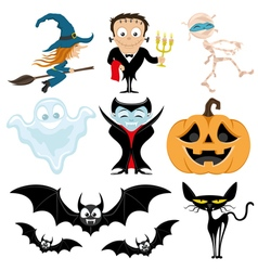 Cute halloween set vector image vector image