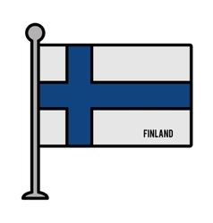 finland patriotic flag isolated icon vector image vector image