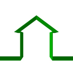 green house icon vector image vector image