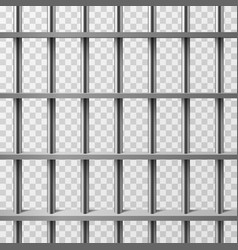 jail cell bars isolated prison background vector image