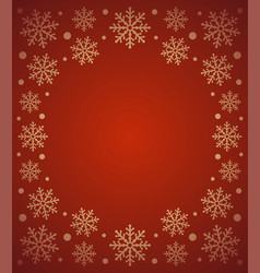 new year background card with snowflake red vector image vector image