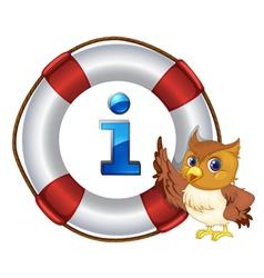 Owl Information Kiosk Sign vector image vector image
