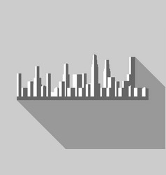 panorama of city with skyscrapers in a flat style vector image vector image