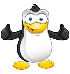 Penguin Mascot Thumbs Up vector image vector image