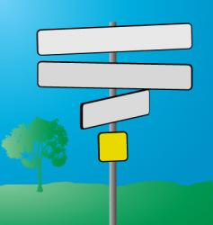 sign post vector image