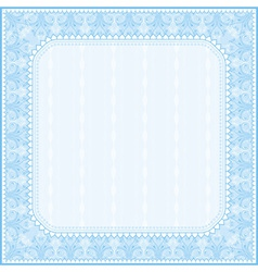 square blue background with decorative ornaments vector image