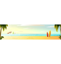 sunny summer beach panorama vector image