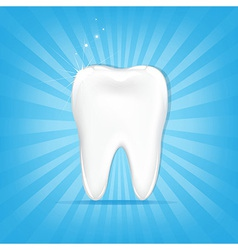 Tooth With Sunburst vector image