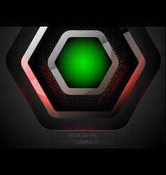 Abstract green lighting vector