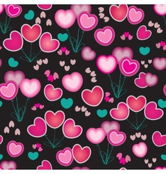 Abstract with hearts vector