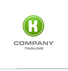 alphabetical logo design with creative typography vector image