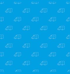 ambulance pattern seamless blue vector image