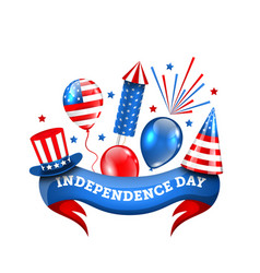 american decoration for independence day vector image