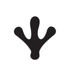 black animal paw or footprint bird trail vector image