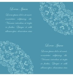 Blue background with vintage ornate pattern vector image