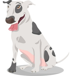bull terrier dog cartoon vector image