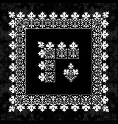 calligraphic corner border and frame on chalkboard vector image