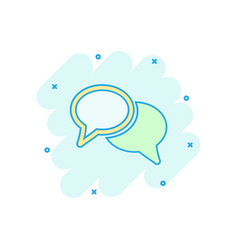 cartoon speech bubble icon in comic style vector image