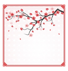 Cherry blossom template vector