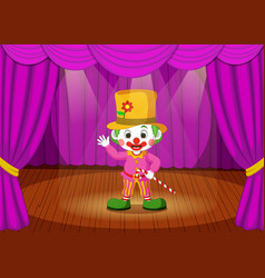 Clown on stage vector