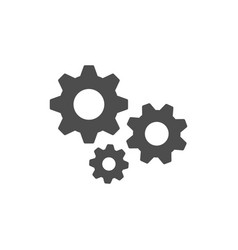 cogwheel or gear glyph icon vector image