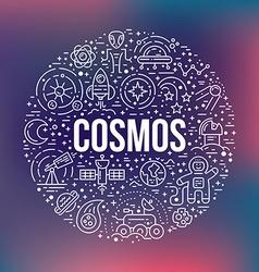 Cosmos Circle Concept vector