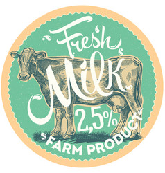 Cow and label vector