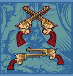 cross gun hand drawing vector image